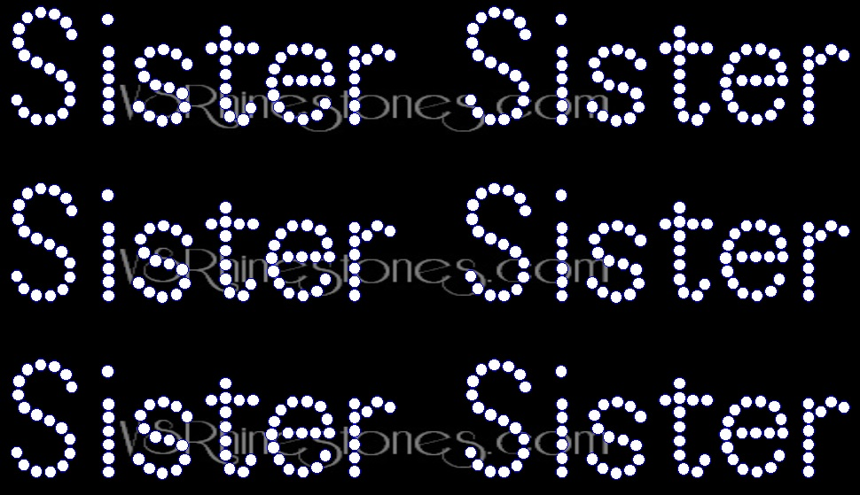 Sister Rhinestone Transfer Add On (6)